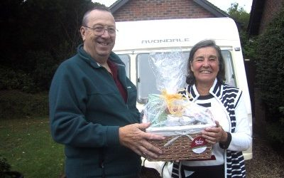 Prize hamper won by Stuart Bladon